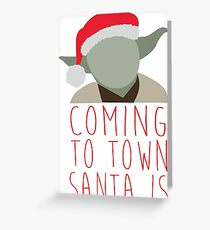 Yoda Claus Greeting Card