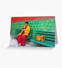 Monk At Yonghegong Lama Temple Greeting Card