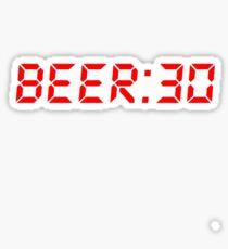 Beer Thirty Beer:30 Sticker