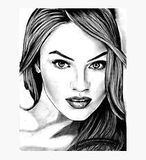 Candice Swanepoel Sketch Photographic Print