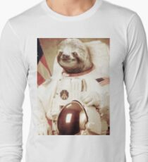 Astronaut Sloth Long Sleeve T-Shirt