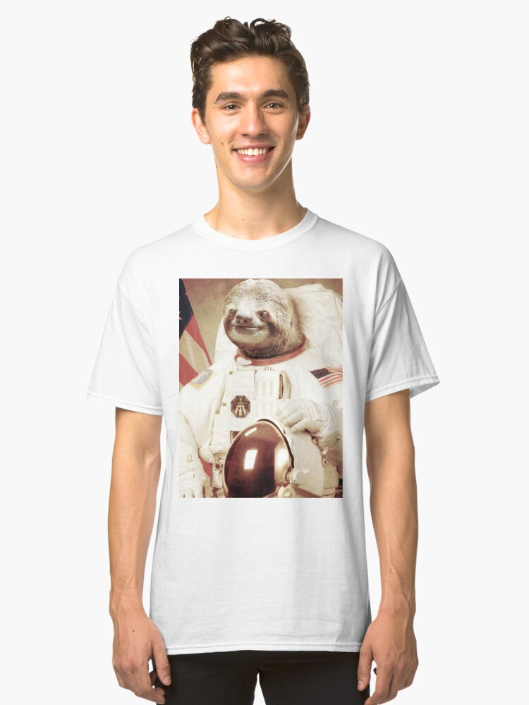 Astronaut Sloth Classic T-Shirt Front