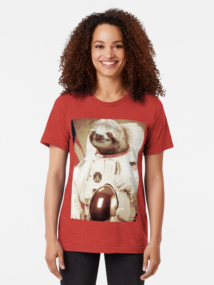 Vista alternativa de Camiseta de tejido mixto Astronauta Sloth