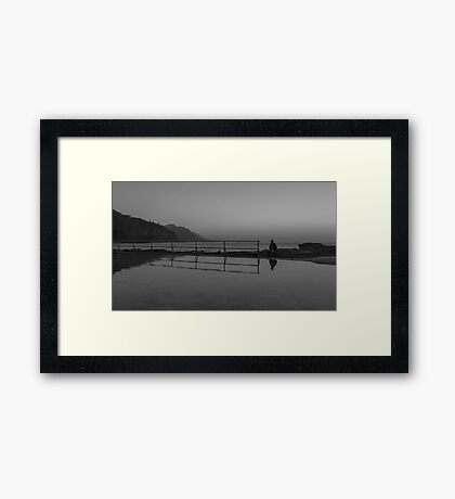 Solitary Reflection Framed Print