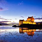 Dusk Eilean Donan Castle and Loch Duich, Scotland by Mark Kenwood