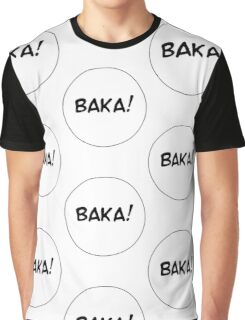 MANGA BUBBLES - BAKA! Graphic T-Shirt