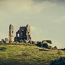 England Panorama - Corfe Castle by lesslinear