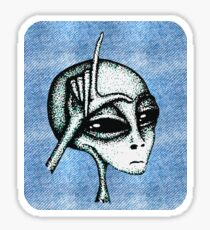 Soft Loser Alien Sticker