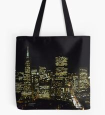 San Fransisco night view of skyline Tote Bag