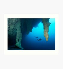 Blue Hole Belize Art Print