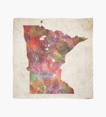 minnesota map warm colors Scarf