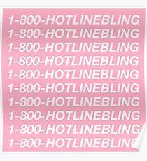 1800hotlinebling album poster Poster