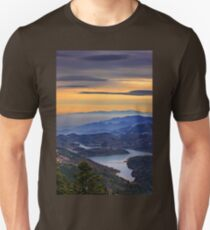 View of Plastiras lake from Pelekiti monastery T-Shirt