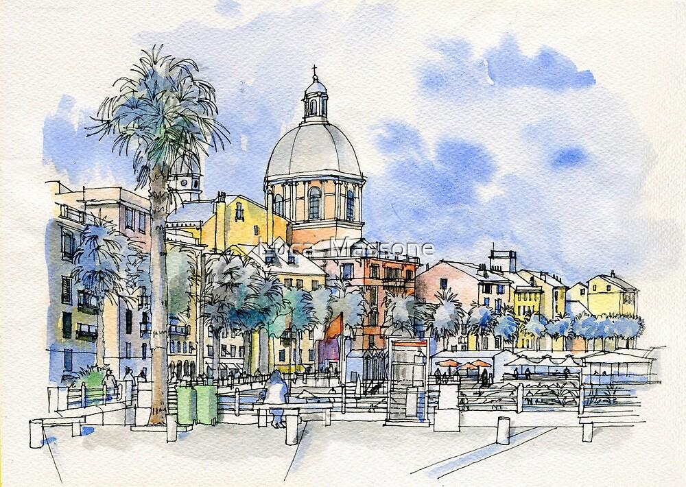 Genova Pegli, Lungomare By Luca Massone Disegni