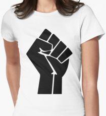 Raised Fist / Black Power Symbol Women's Fitted T-Shirt