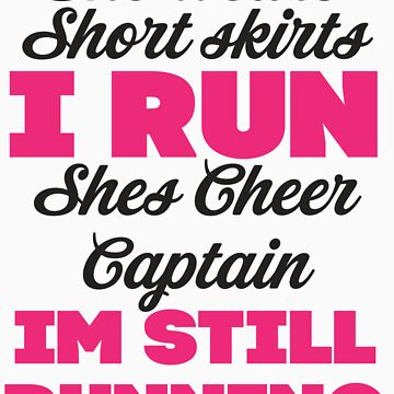 She Wears Short Skirts, I Run (Black, Pink) by Fitspire