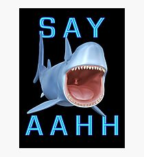 Say Aahh .. a sharks tale Photographic Print