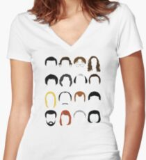 The Office  Women's Fitted V-Neck T-Shirt