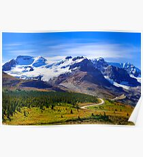 Columbia Icefields, Jasper National Park, Alberta Canada Poster