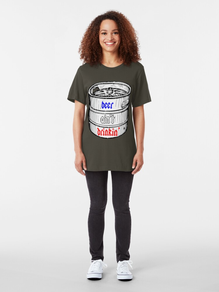 Alternate view of beer shirt. Slim Fit T-Shirt