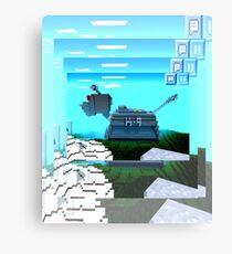 Minecraft K-9 Canvas Print