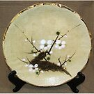 Japanese ceramic plate by Origa