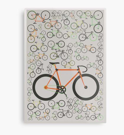 Fixed gear bikes Metal Print