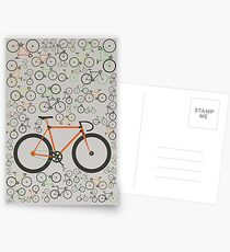 Fixed gear bikes Postcards