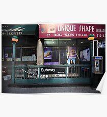 Subway and Shops, NYC Poster
