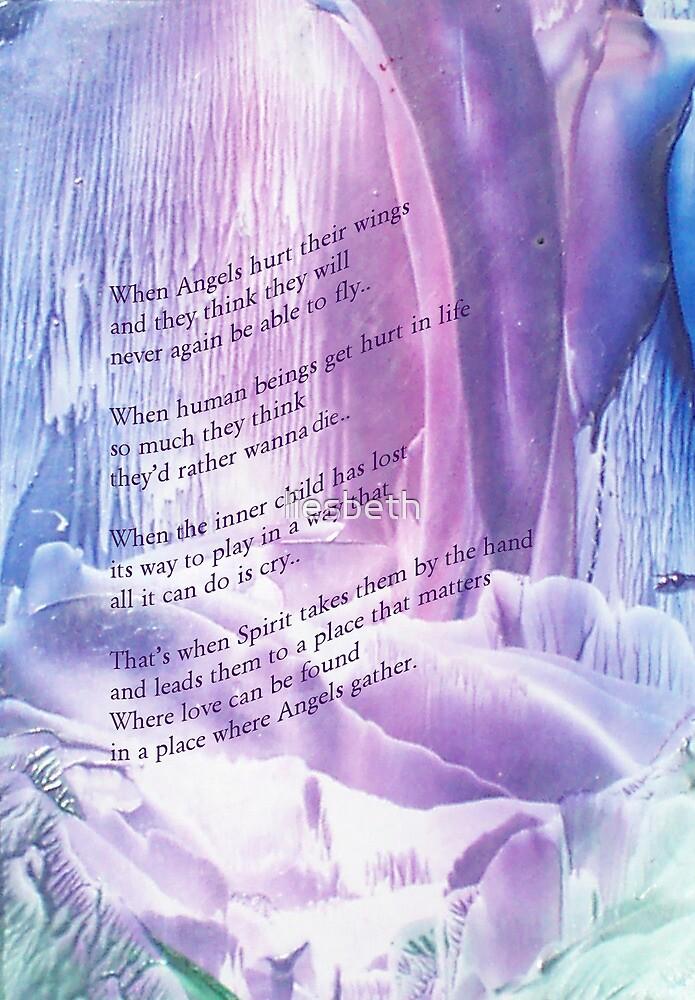 Card where angels gather by liesbeth