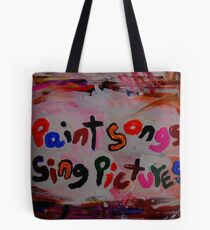 paint songs sing pictures Tasche