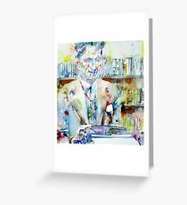 GEORGE ORWELL - watercolor portrait Greeting Card
