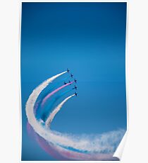 Red Arrows on display Poster