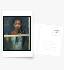 Black Girl at a Window Postcards