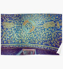 Chi Rho alpha omega on roof Tomb of Gallia Placida Ravenna Italy 19840414 0058 Poster