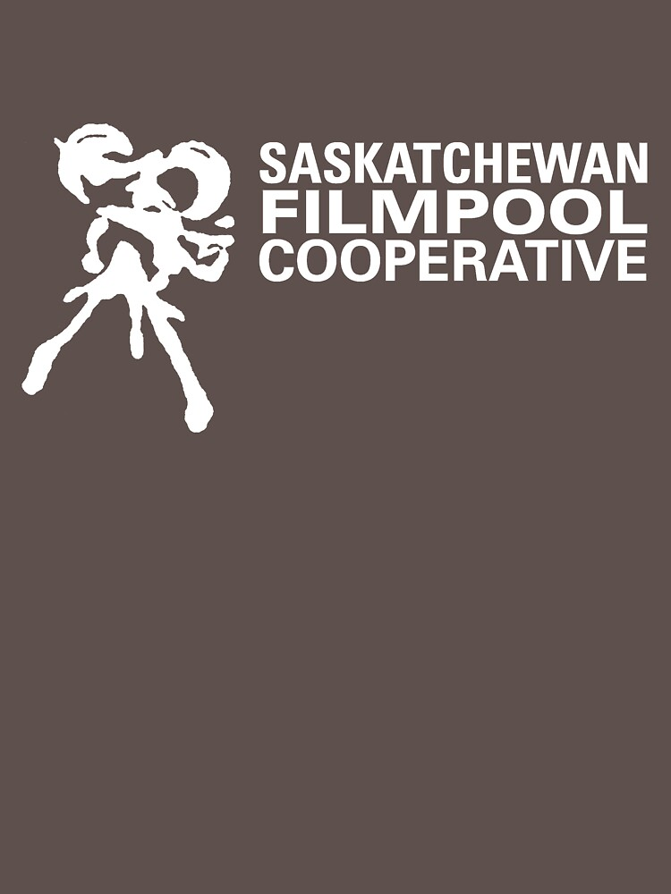 Saskatchewan Filmpool Cooperative large horizontal logo - white by SaskFilmpool