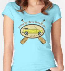 Johnny's Moto Surf Shop Women's Fitted Scoop T-Shirt