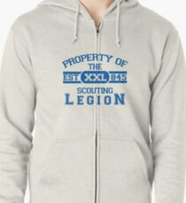Attack on Titan - Sports Theme! Property of The Scouting Legion. ver 2 Zipped Hoodie
