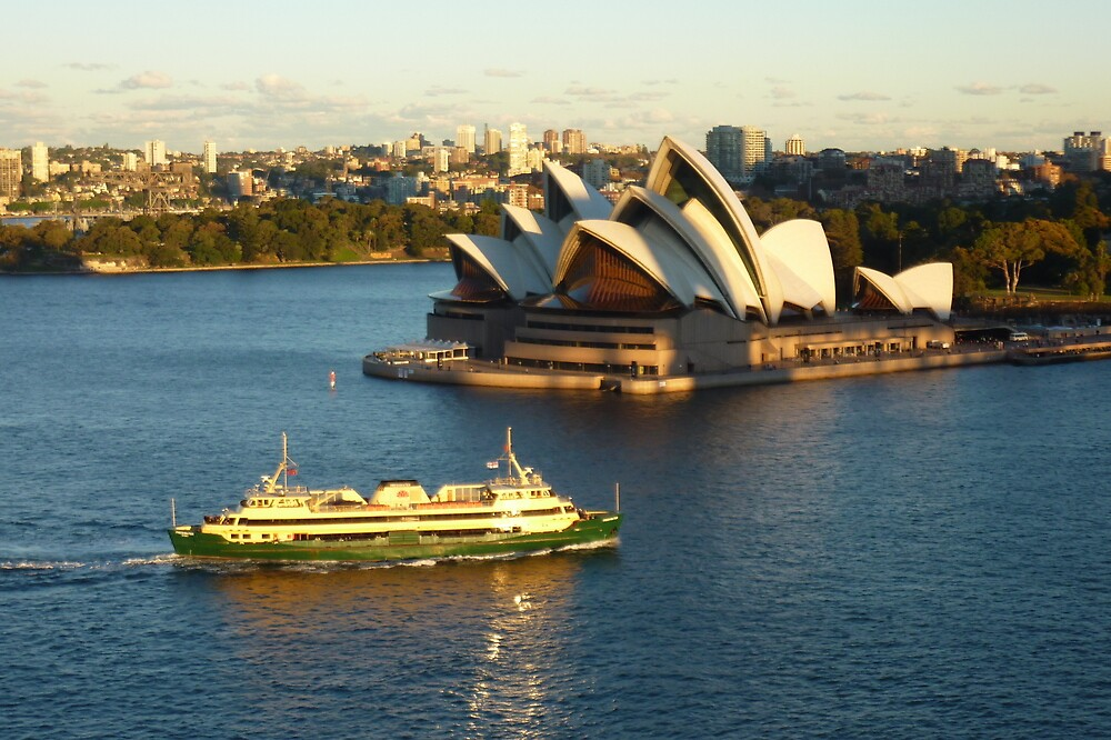 Sydney Opera House from the Harbour Bridge by Fred Marsh