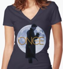 Captain Hook/Killian Jones - Once Upon a Time Women's Fitted V-Neck T-Shirt