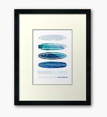 My Surfspots poster-2-Mavericks-California Framed Print