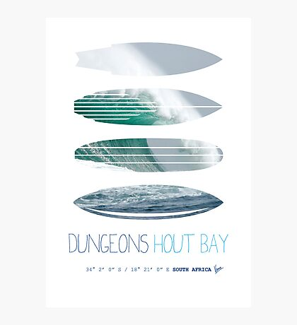 My Surfspots poster-4-Dungeons-Cape-Town-South-Africa Photographic Print
