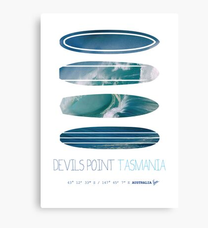 My Surfspots poster-5-Devils-Point-Tasmania Canvas Print