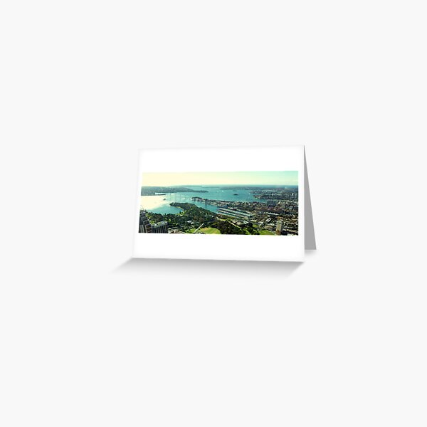 Sydney Harbour from Centrepoint Tower Greeting Card