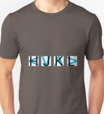 HJKL (Blue Arrows + No Text Transparency) Unisex T-Shirt