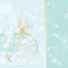 Beautiful Christmas Card in light-blue by schtroumpf2510