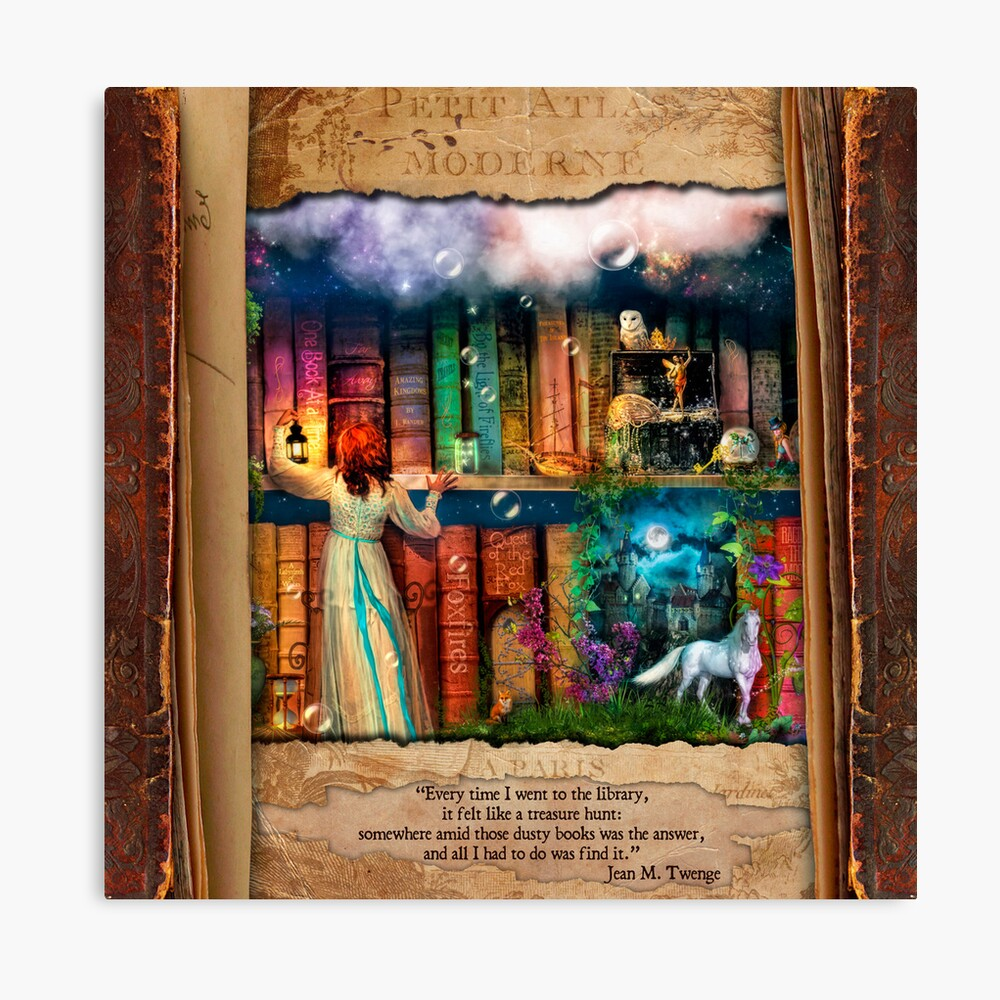The Curious Library Calendar - June Canvas Print