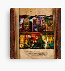 The Curious Library Calendar - September Canvas Print