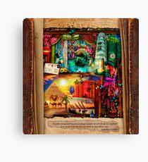 The Curious Library Calendar - November Canvas Print