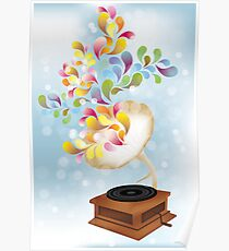 Creative music player poster Poster